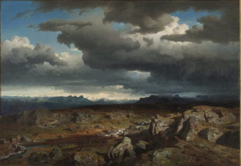 Norwegian mountains | Hans Fredrik Gude | oil painting