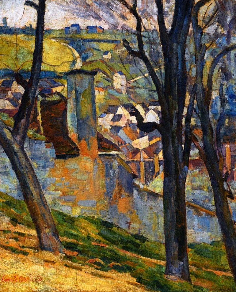 Landscape near Tonnerre   Emile Bernard   oil painting