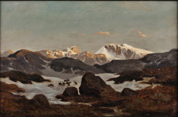 Snow in the Mountains | Hans Fredrik Gude | oil painting