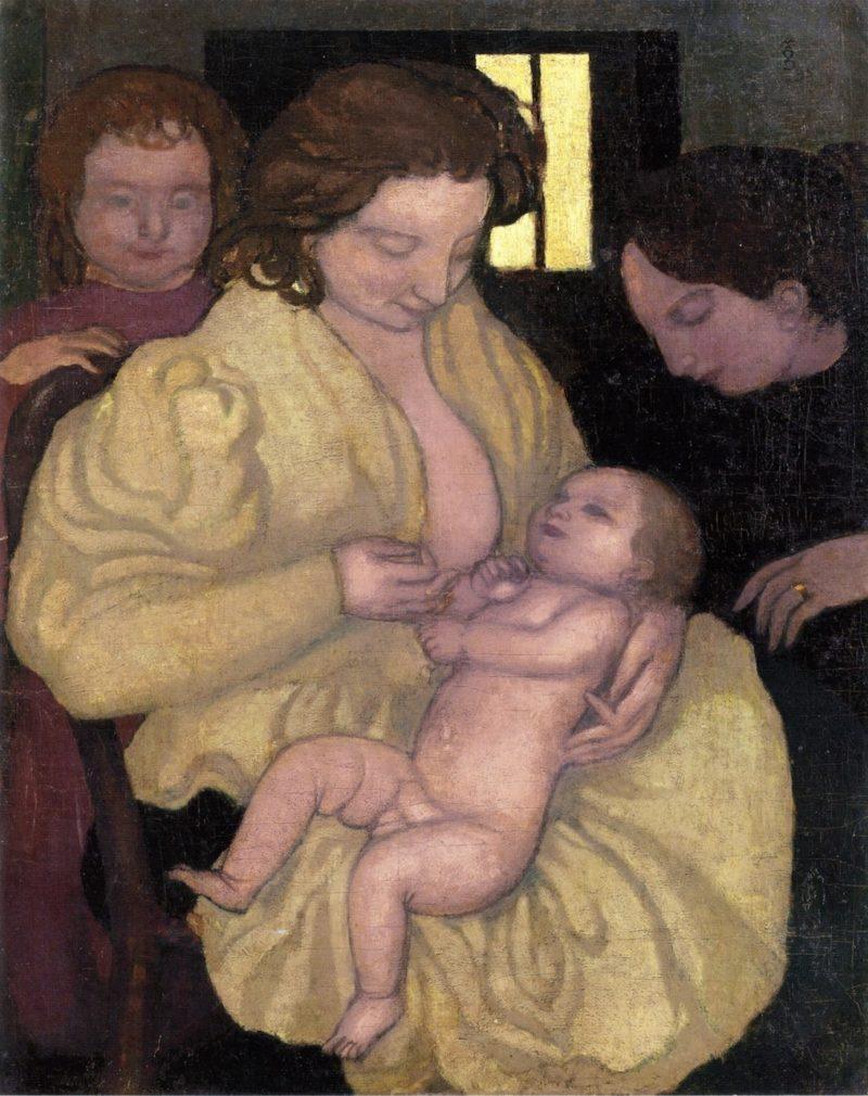 Motherhood | Emile Bernard | oil painting