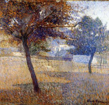 Orchard at Pont Aven   Emile Bernard   oil painting