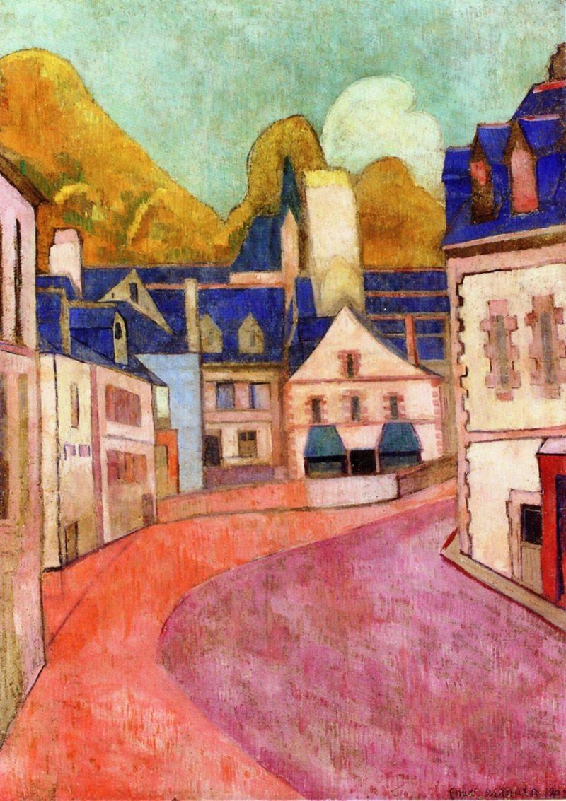Pink Street in Pont Aven | Emile Bernard | oil painting