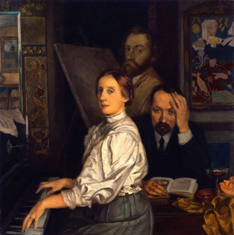 Portrait of Andries Bonger His Wife and Emile Bernard | Emile Bernard | oil painting