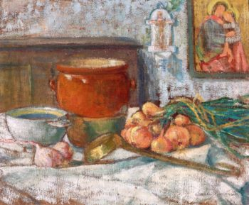 Still LIfe with Onions | Emile Bernard | oil painting