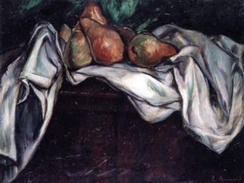 Still Life with Pears on a White Tablecloth | Emile Bernard | oil painting
