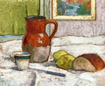 Still Life with Pitcher and a Cup | Emile Bernard | oil painting