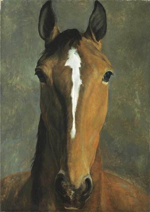 Head of a bay horse | Jacques Laurent Agasse | oil painting