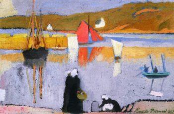 The Harbor at Saint Briac | Emile Bernard | oil painting