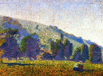 Two Breton Women in a Meadow | Emile Bernard | oil painting