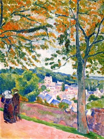 View of Pont Aven I | Emile Bernard | oil painting