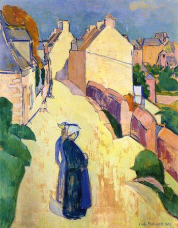 Village Street Saint Briac | Emile Bernard | oil painting