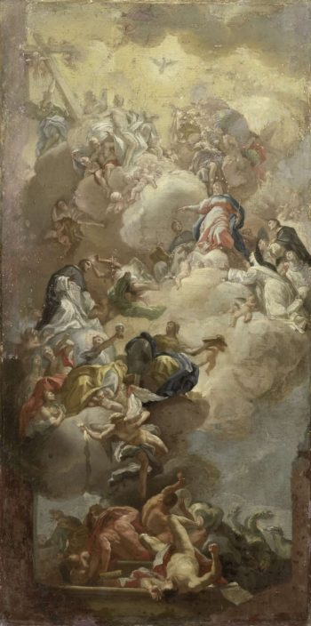 The glorification of St. Dominic. 1710 - 1785 | Francesco Solimena | oil painting