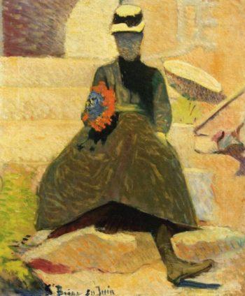 Woman at Saint Briac | Emile Bernard | oil painting