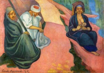 Woman Breastfeeding | Emile Bernard | oil painting