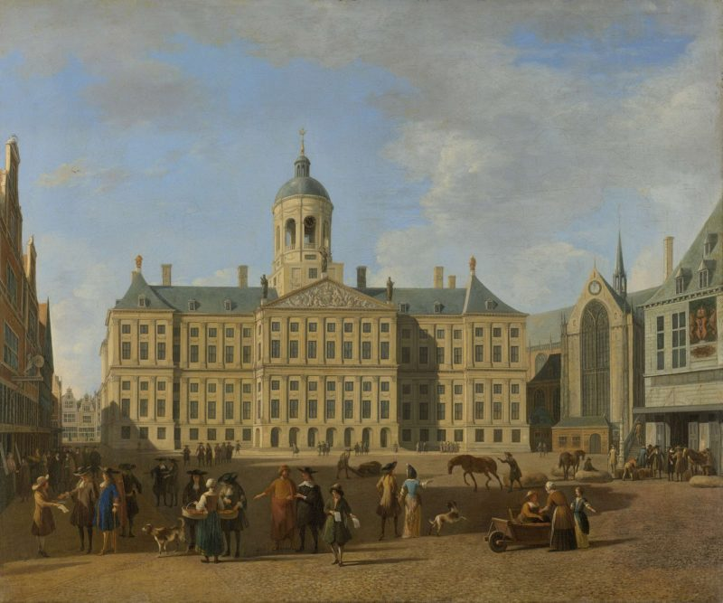 The Town Hall on the Dam in Amsterdam.. 1693 | Gerrit Adriaensz. Berckheyde | oil painting