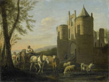 The front gate of castle Egmond. 1670 - 1698 | Gerrit Adriaensz. Berckheyde | oil painting