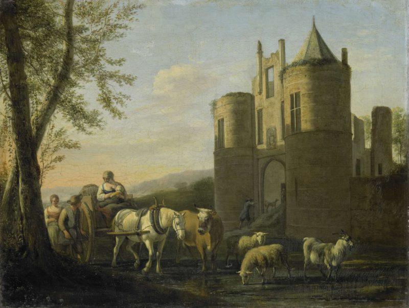 The front gate of castle Egmond. 1670 - 1698 | Gerrit Adriaensz. Berckheyde | oil painting
