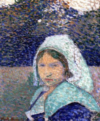 Young Breton at Pont Aven | Emile Bernard | oil painting