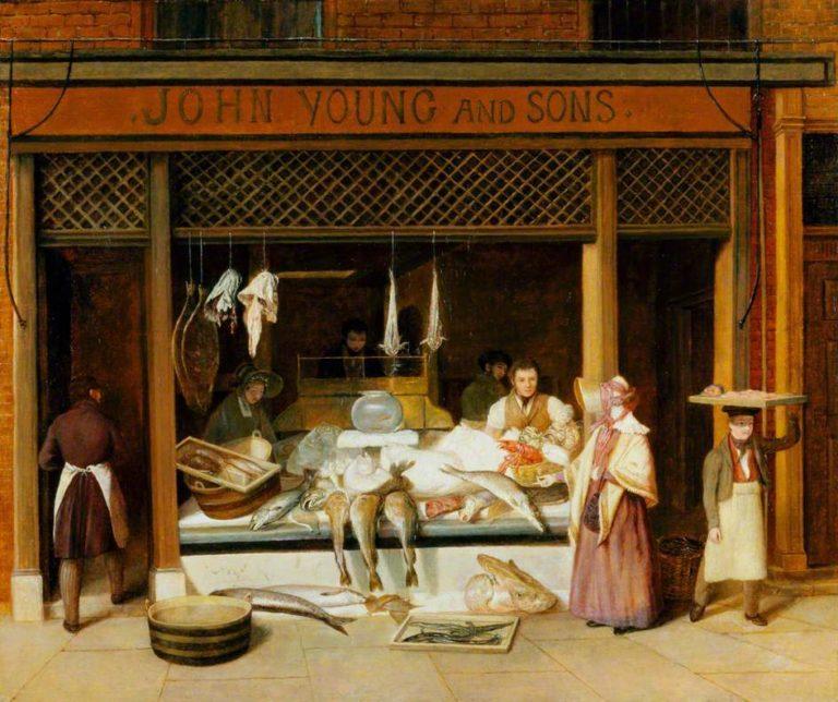 The Fishmonger Shop | Jacques Laurent Agasse | oil painting