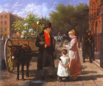 The Flower Seller | Jacques Laurent Agasse | oil painting