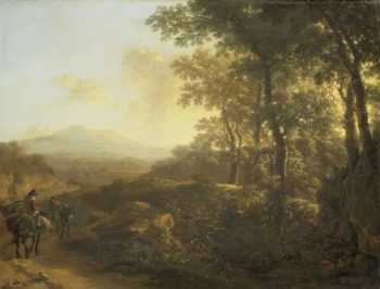 Italian landscape with muleteer. 1640 - 1652 | Jan Both | oil painting