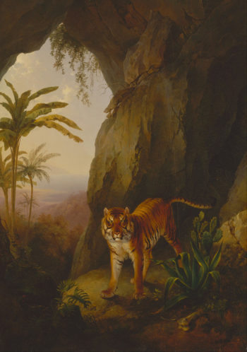 Tiger in a Cave | Jacques Laurent Agasse | oil painting