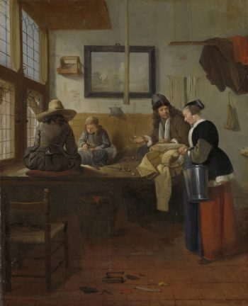 The Tailor's Workshop. 1661 | Quiringh Gerritsz. van Brekelenkam | oil painting
