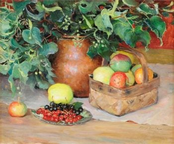 Still Life with Fruit | Fanny Brate | oil painting