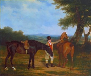Two Hunters with a Groom | Jacques Laurent Agasse | oil painting