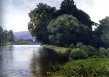 A Banks of the River   Frantisek Kavan   oil painting