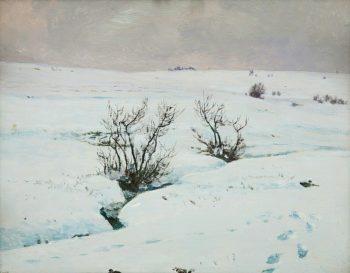 A Brook in Winter   Frantisek Kavan   oil painting