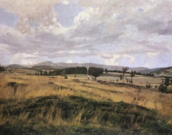 A Czech Landscape   Frantisek Kavan   oil painting