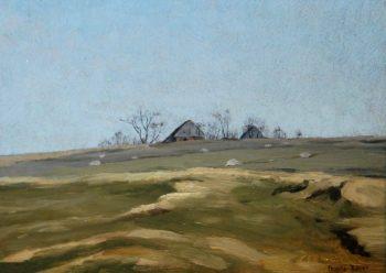 A Landscape below Krkonose Moutains   Frantisek Kavan   oil painting