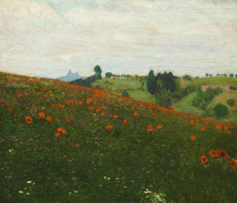 A Landscape below the Ruin of Trosky Castle | Frantisek Kavan | oil painting