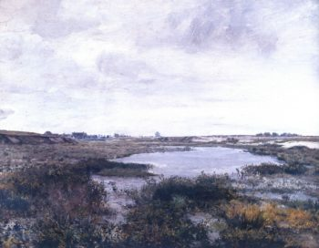 A Marshy Land Near the lake Rozmberk   Frantisek Kavan   oil painting