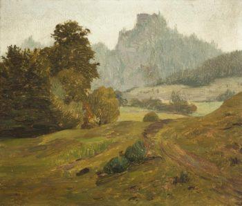 A Motif from Prachovske Skaly Rock Formation   Frantisek Kavan   oil painting