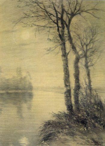 An Autumn Twilight   Frantisek Kavan   oil painting