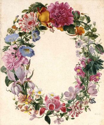 A Wreath of Various Flowers | Johannes van Bronckhorst | oil painting