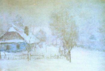 A Snowstorm   Frantisek Kavan   oil painting