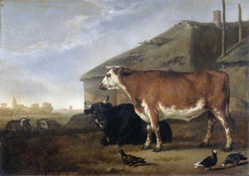 Cattle piece. 1660 - 1722 | Abraham van Calraet | oil painting