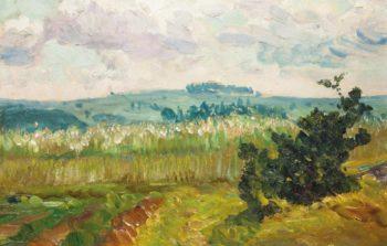 A Summer Landscape   Frantisek Kavan   oil painting