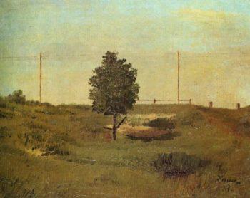 A Telegraph Posts   Frantisek Kavan   oil painting