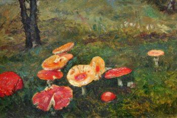 A Toadstools   Frantisek Kavan   oil painting