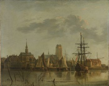 View of Dordrecht at sunset. 1700 - 1799 | Aelbert Cuyp | oil painting