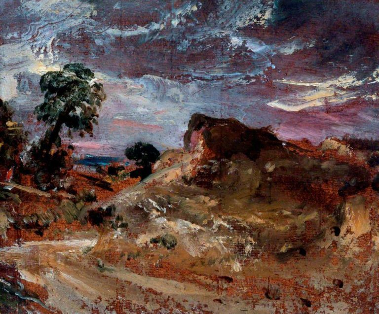 A Country Road and a Sandbank | John Constable | oil painting