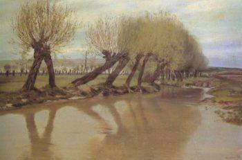 A Willows   Frantisek Kavan   oil painting