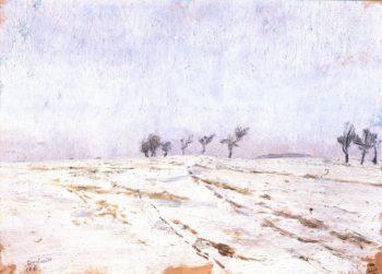 A Winter Evening   Frantisek Kavan   oil painting