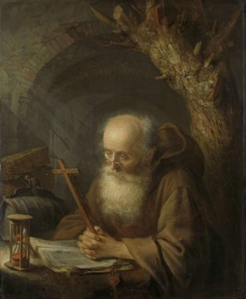 A hermit. 1664   Gerard Dou   oil painting