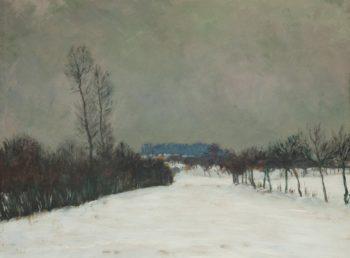 A Winter Landscape   Frantisek Kavan   oil painting