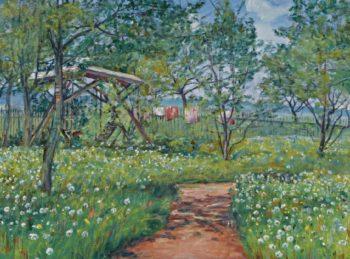 Garden in Libun   Frantisek Kavan   oil painting